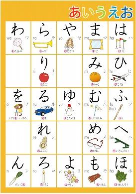ひらがな表|幼児の学習素材館 : 幼児の学習館 : 幼児